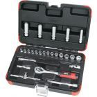 "25 pce 1/4"" Drive Socket Set Metric"