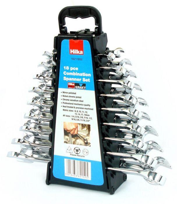 Set of 25 Pieces Hilka 16202502 Metric Pro Craft Combination Spanner Set
