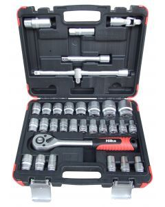 "32 pce 1/2"" Drive Socket Set Metric"