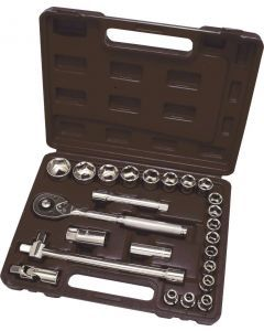 "25 pce 1/2"" Drive Socket Set Metric"