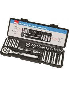 "21 pce 3/8"" Drive Socket Set Metric"