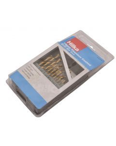 19 pce HSS Drill Bit Set Titanium Coated