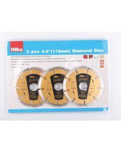 "3 pce 4.5"" (115mm) Diamond Discs"
