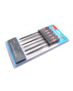 6 pce Warding File Set Soft Grip
