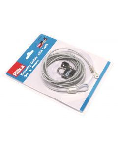Security Cable with Lock 3m x 4mm