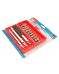 17 pce Hobby Knife & Blade Set