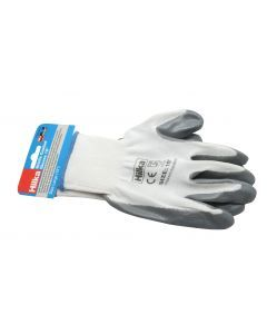 "Large 10"" Nitrile Coated Work Gloves"