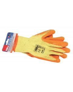 "Extra Large 11"" Orange Latex Coated Work Gloves"