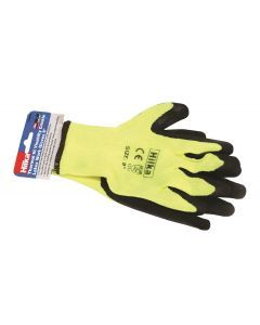 "Medium 9"" Thermal Latex Work Gloves"