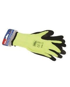 "Large 10"" Thermal Latex Work Gloves"
