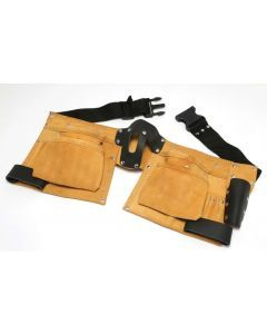 Leather Double Tool Belt Tanned