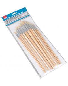 12 pce Paint Brush Set Round