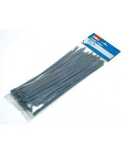 50 4.5mm x 250mm Cable Ties Grey