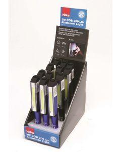 3W COB 200 Lumens Pen Work Light 12 pce CDU