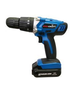 Pro-Craft 18V Li-ion Cordless Hammer Drill Two Batteries